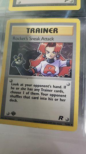 Pokemon 1st edition team rockets rockets sneak attack. for Sale in Tacoma, WA