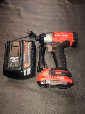 Craftsman 20v impact drill one battery and charger for Sale in Clayton, NC