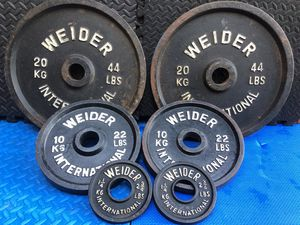 OLYMPIC WEIDER KILO PLATES : (PAIRS Of) : 44S. / 22S. / 2.5S for Sale in Deerfield Beach, FL
