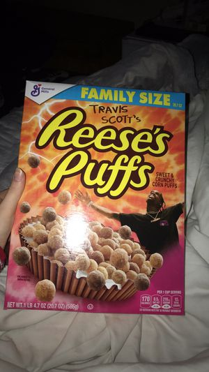 Travis Scott Reese's Puffs Cereal Box for Sale in Vincent, OH