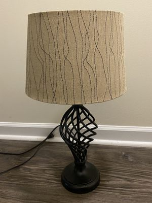 Black Lamp with Tan Embellished Shade for Sale in Nashville, TN