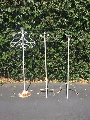 Vintage Metal Standing Floor Candelabras Candle Holders Candle Stands for Sale in Pomona, CA