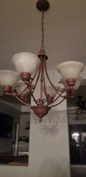 Brown 6 light chandelier for Sale in Chino, CA
