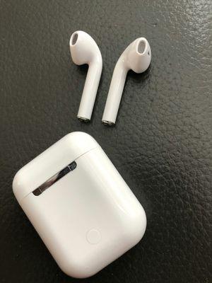 Brand new regular quality earphones earpods headphones with portable charging case hands free calls for Sale in Davie, FL