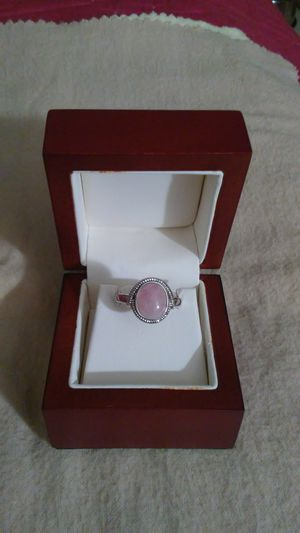 Silver plated rose quartz ring. Size 7 for Sale in Richardson, TX