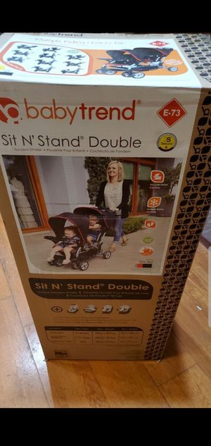 New double stroller new in box never open $120 or trade for 12 enfamil cans no less sorry for Sale in Perris, CA