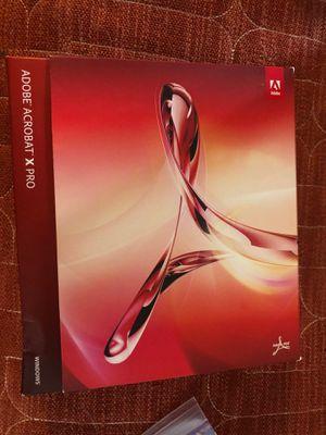 Adobe Acrobat X pro for Sale in Renton, WA
