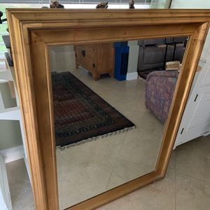 Large beveled mirror with gold frame for Sale in Delray Beach, FL