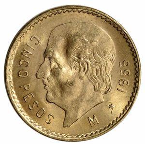 1955 Mexico Gold 5 Pesos (.1205 oz) - BU for Sale in West Sacramento, CA