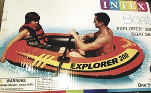 NEW-Boat Explor 200 Set W. Oars, Dbl. air pumps for Sale in Henderson, NV