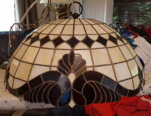 Stained Glass Tiffany style hanging light lamp, chandelier for Sale in Issaquah, WA
