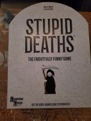 Stupid Deaths Board Game for Sale in Norwalk, CA