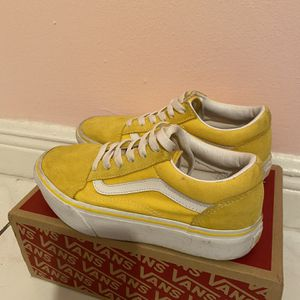 Yellow And White Vans Kid Size for Sale in Miami, FL