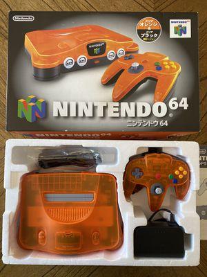 Nintendo 64 Daiei Hawk's. Clear Orange & Black N64 Console. Complete in Box! for Sale in San Diego, CA