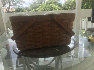 Walnut color Longaberger Basket for Sale in Daytona Beach, FL