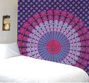 Purple Indian Cotton printed Mandala Wall hanging Wall Decor. 84 x 54 inches Approx. for Sale in HALNDLE BCH, FL