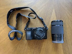 Sony Alpha a6000 Mirrorless Digital Camera w/ 16-50mm and 55-210mm Power Zoom Lenses for Sale in Seattle, WA