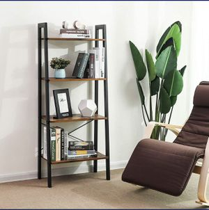 "Available on Alexstrade. Com FurniFuture 4-Tier Bookshelf, Storage Rack Shelf Metal Frame 22.1""L x 13.3""W x 54.1""H for Sale in Holly Springs, NC"