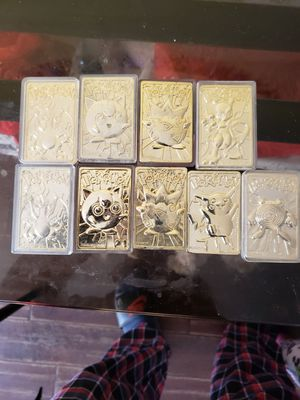 22 kt gold plated pokemon collection for Sale in Victorville, CA