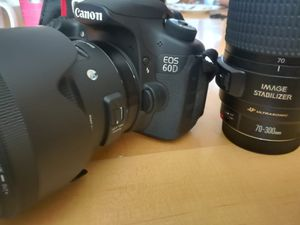 Canon eos60D with lenses for Sale in Peabody, MA