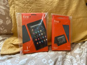 Kindle Fire 7 9th Gen with Cover - 32gb - NEW for Sale in Shoreline, WA