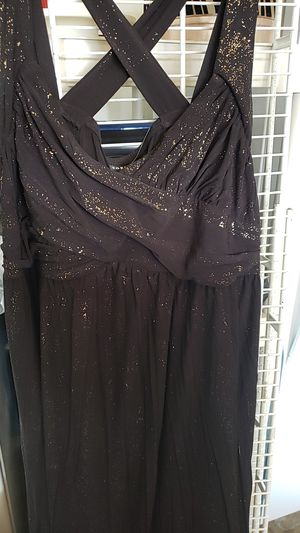 Plus size dress torrid sparkle beautiful black and gold for Sale in Orlando, FL