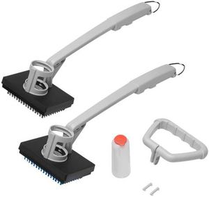 2-Piece Soap Dispensing BBQ Grill Cleaning Brush Set, Soft Bristle Cleaning Brush and Stainless Steel Cleaning Brush for Stainless Steel, Ceramic, Ir for Sale in Pomona, CA