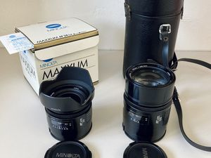 Sony alpha Minolta maxxum at 2.8 135mm portrait lens for Sale in San Diego, CA