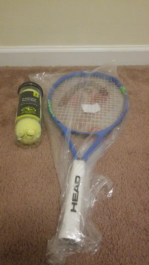 Brand new tennis racket,and sealed 3 tennis ball pack for Sale in Stanfield, NC
