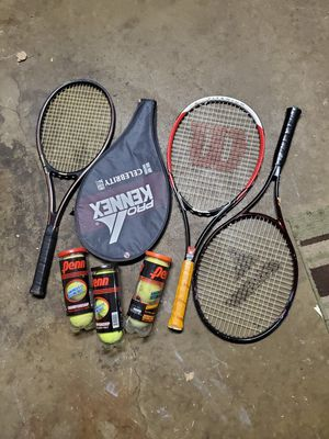 Tennis rackets racquets and balls for Sale in Orland Hills, IL