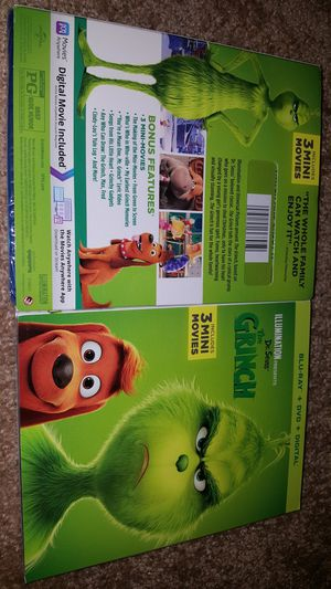 The grinch blu ray for Sale in Norwalk, CA
