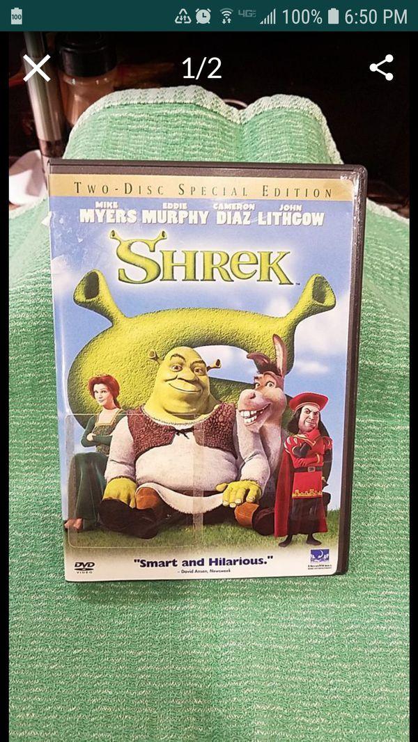 SHREK DVD. 2 DISC DVD. NEW.