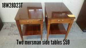 Two MCM Mersman side tables for Sale in Fort Worth, TX