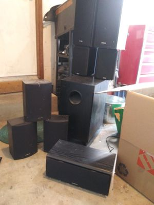 8 speaker ONKYO 5.1 surround system with reciever for Sale in OR, US