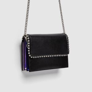 NWT, Zara crossbody purse with metal detail for Sale in San Jose, CA