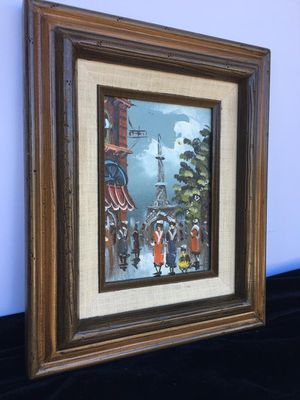 Paris Scenery, beautiful original oil painting - H12xW10 inch for Sale in Chandler, AZ