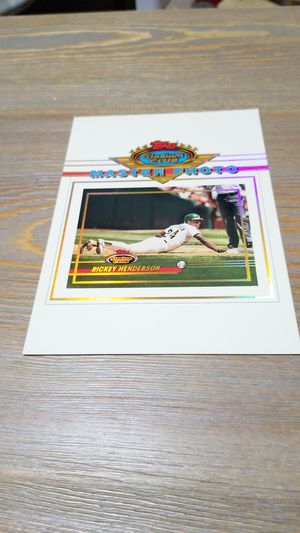 Baseball card- Rickey henderson master photo for Sale in West Stayton, OR