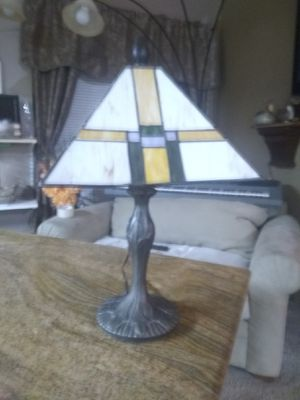 Antique ledded stain glass lamp for Sale in Houston, TX