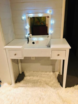 Vanity table with mirror only for Sale in Riverside, CA