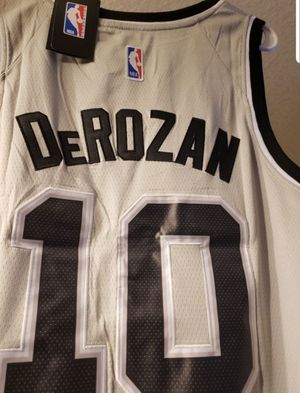 Deron Derozan San Antonio Stitched Silver Spurs Jersey with tags for Sale in San Antonio, TX
