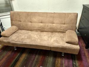 Reclining convertable sofa (tan) for Sale in San Francisco, CA