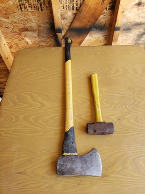 Axe fiber glass handle & Hammer for Sale in Dearborn, MI