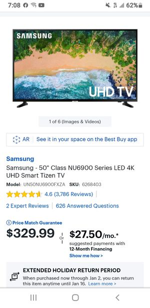 Samsung 50 inch smart TV brand new in box for Sale in Puyallup, WA