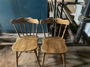 Two wooden chairs for Sale in St. Louis, MO