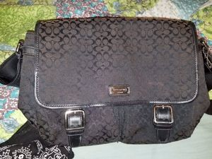 Black coach messenger bag for Sale in Indianapolis, IN