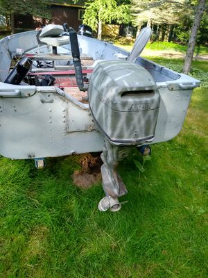 14 foot aluminum boat four stroke engine for Sale in NY, US