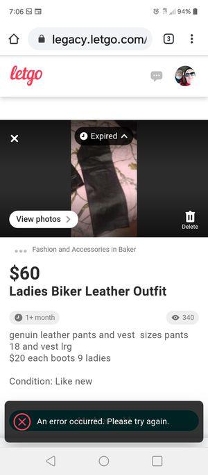 Leather bike clothing for Sale in Baker, LA