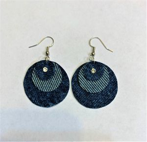 Denim Earring very cute with shinny Swavorski Crystals for Sale in Peoria, IL