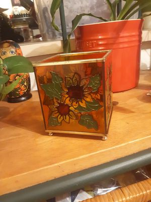 Cute stained glass candle holder for Sale in Lake Stevens, WA