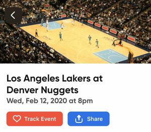 4 Lakers vs Nuggets Tickets! for Sale in Denver, CO